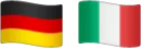 German and Italian flags