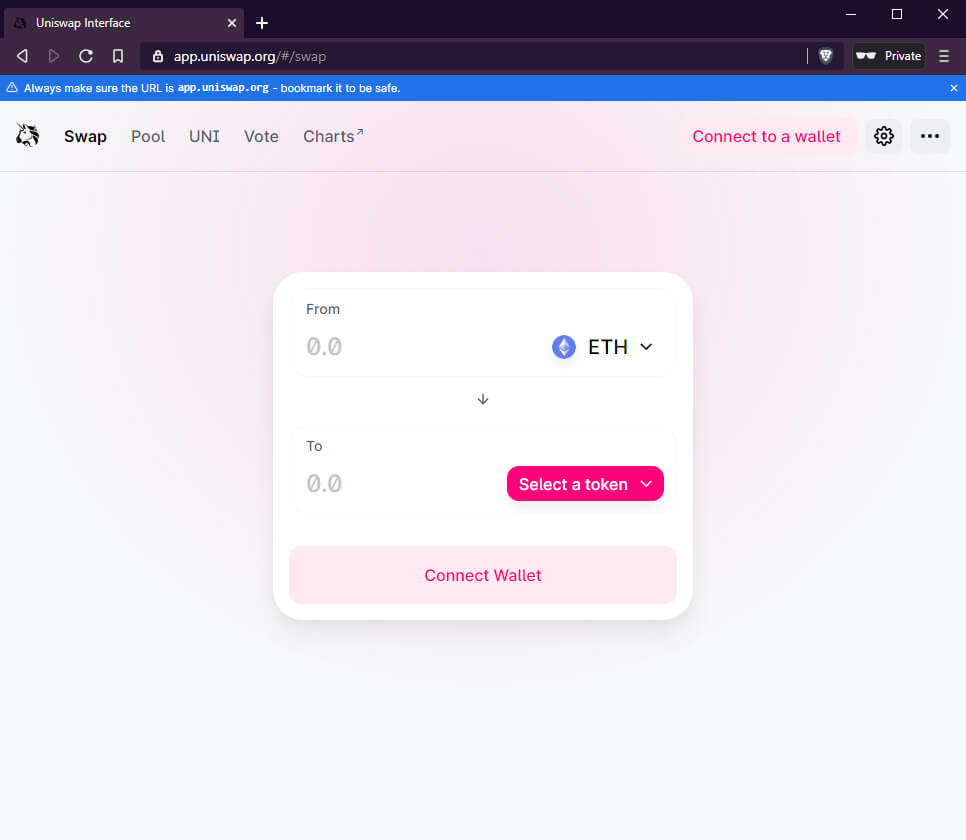 How to claim UNI tokens with Bridge Wallet screenshot 1