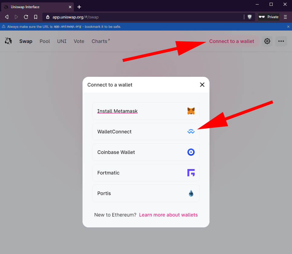 How to claim UNI tokens with Bridge Wallet screenshot 2