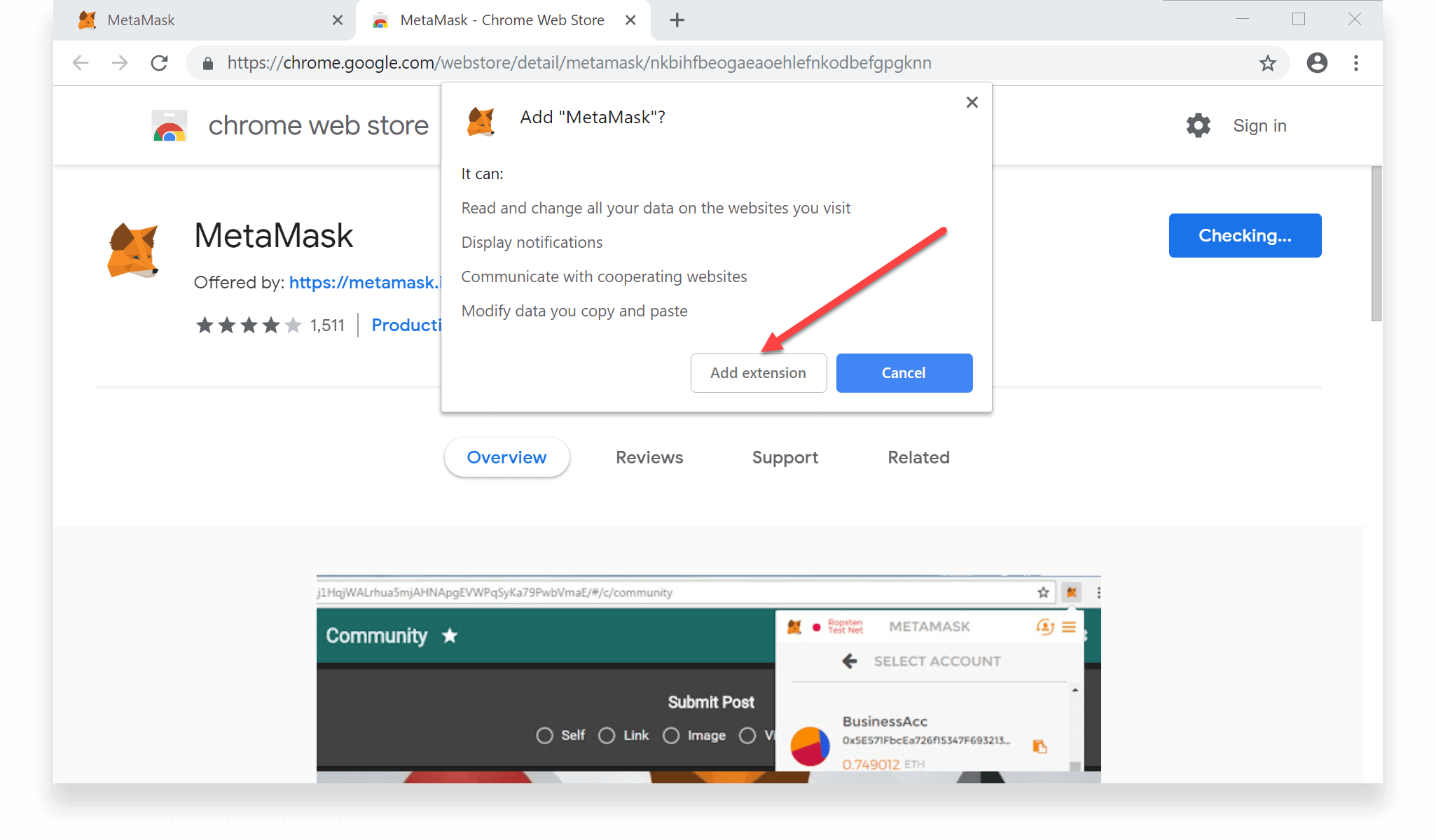 How to Create a MetaMask Wallet - Step 3